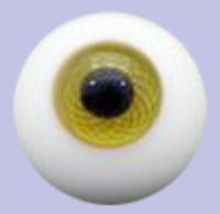 Hazel (yellow/moss/green) Solid Glass Paperweight Eyes